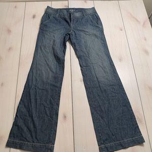 womens 2 Ann Taylor LOFT jeans flare medium wash